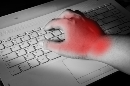 carpal tunnel syndrome: Carpal tunnel syndrome,wrist pain from working with computer.