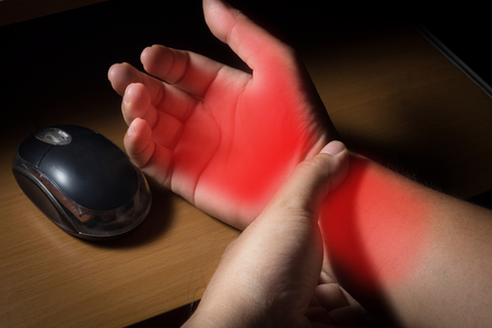 wrist pain: Carpal tunnel syndrome,wrist pain from working with computer.