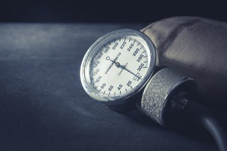 sphygmomanometer: Sphygmomanometer in vintage filtered,medical tools