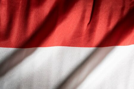 Indonesia national flag, background textured. Stock Photo