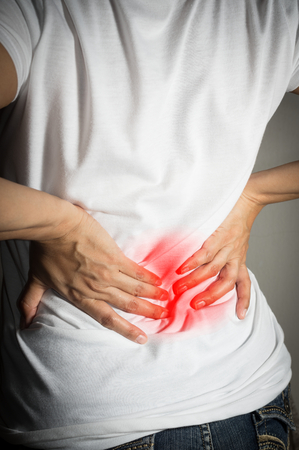 Woman have back pain