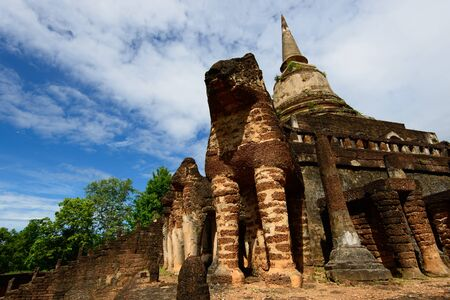 Sukhothai historical park, the old town of Thailand in 800 year  photo