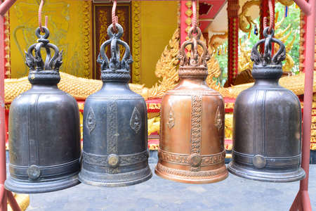 church bell: a church bell is a beautiful art in the temple of Thailand