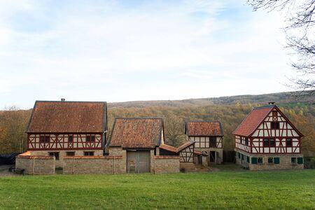 old farm: Old Farm near Bad-Sobernheim Rhineland-Palatinate Germany