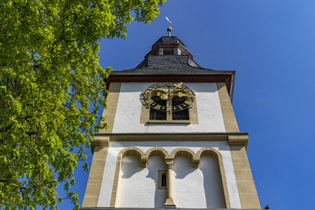 Bell tower at Floersheim-Dalsheim at Rhine-Hesse Germany.