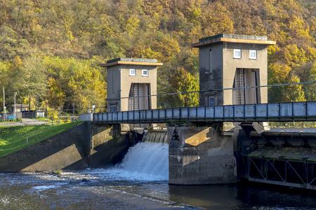 Hydroelectric power plant in Niederhausen Rhineland Palatinate Germany