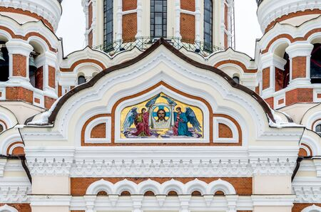 nevsky: Alexander Nevsky Orthodox Cathedral in the Tallinn Old Town, Estonia, religious mosaics