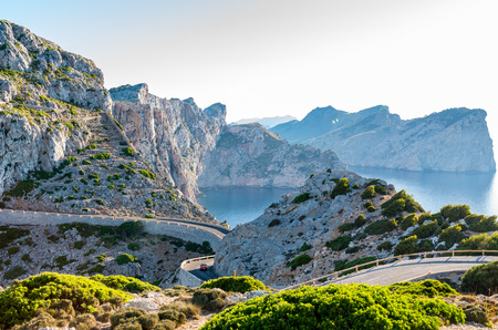 Cap Formentor Mallorca, Spain, winding roads