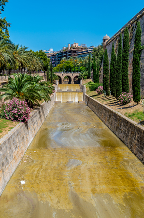 torrent: The River Torrent de sa Riera in Palma, Mallorca, Spain Stock Photo