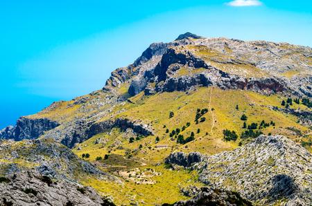 sa: Sa Calobra in Serra de Tramuntana - mountains in Mallorca, Spain