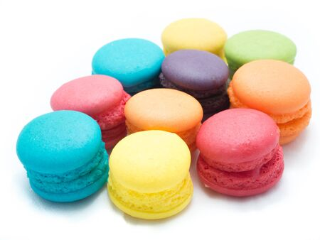 scattered: Colorful Macaroon Scattered Stock Photo