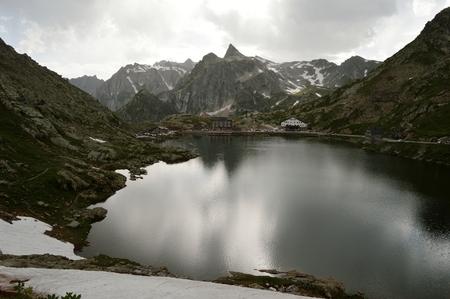 bernard: Col du Grand Saint Bernard Swiss alp Europe