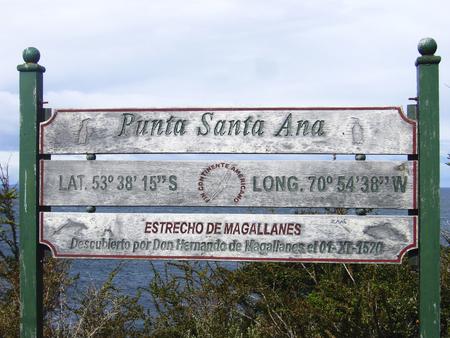 strait of magellan: Punta Santa Ana Strait of Magellan patagonia Chile Stock Photo