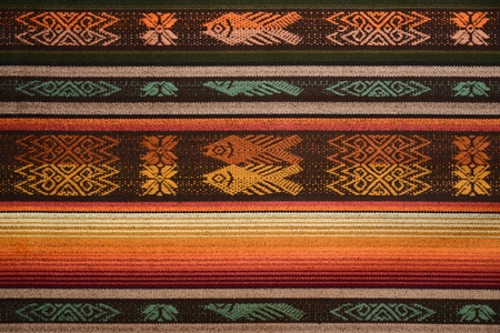 Peruvian fabrics, material for tablecloth, clothes Stock Photo