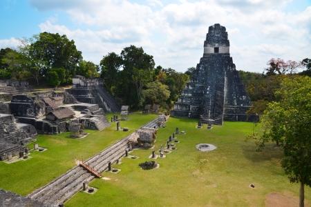 Tikal temple in Guatemala  Stock Photo