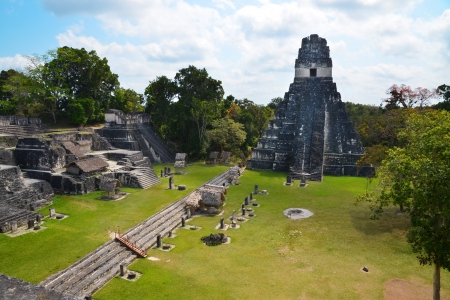 guatemala: Tikal temple in Guatemala  Stock Photo