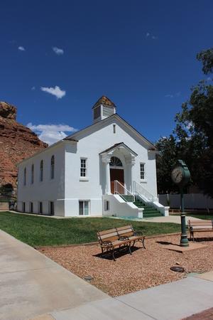 ut: Zion Community Church Rockville, UT Stock Photo