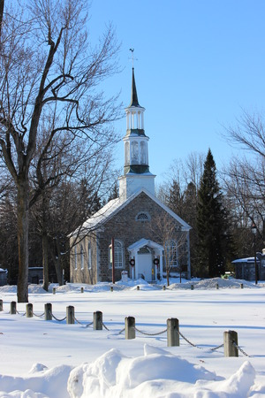 anglican: St Stephen Anglican Church in Chambly, Quebec, Canada. Built in 1820-1822. Stock Photo