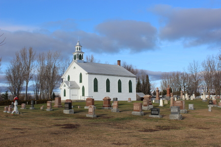 house of worship: Russeltown United Church and Cemetery. Built as Presbyterian in 1826-1829