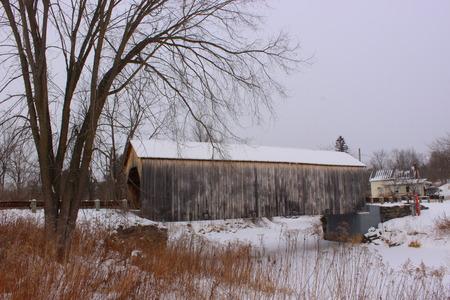 East Fairfield Covered Bridge in Vermont. Built in 1865