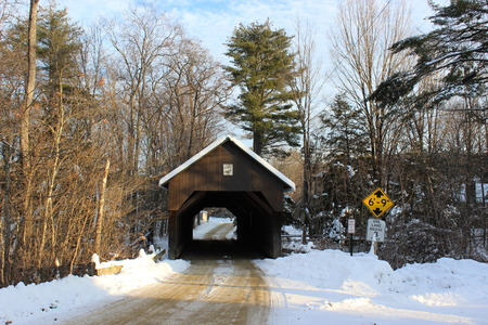 Bayliss Covered Bridge built in 1877 in Cornish, New Hampshire