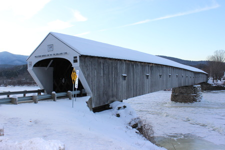 Cornish-Windsor covered bridge between Vermont and New Hampshire, built in  1866 over Connecticut River Stock fotó