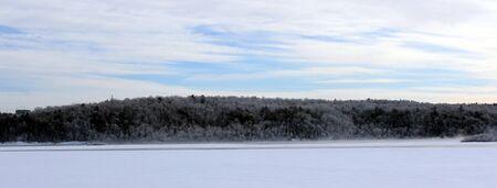 River shore in winter