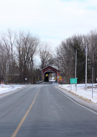 Des Rivières Covered Bridge in Notre-Dame-de-Stanbridge, Qc Stock fotó