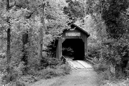 Bean Blossom Covered Bridge in Helmsburg, Indiana, built in 1880