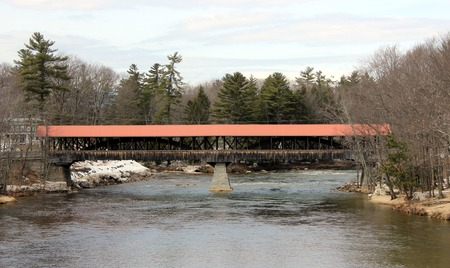 Saco River Covered Bridge in Conway. New Hampshire. Built in 1890
