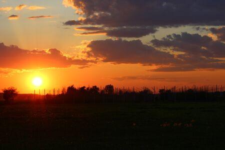 Summer Sunset in Beloeil, Quebec, Canada