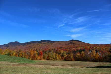 Vermont Fall Landscape in Stowe, Vermont
