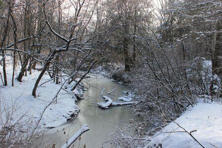 Little River in Winter in Quebec