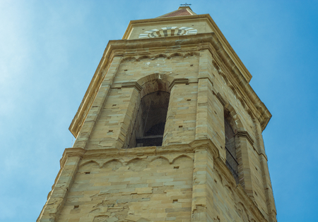 celeste: Bell tower of the Cathedral of Arezzo