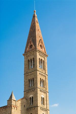 costruction: Campanile of Santa Maria Novella in Florence Tuscany Italy Stock Photo