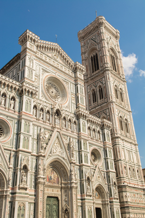 costruction: Facade of the Cathedral of Brunelleschi in Florence Tuscany Italy