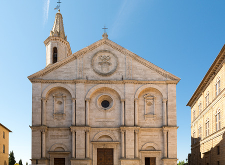 Pienza in Val dOrcia and its Cathedral, Tuscany, Italy