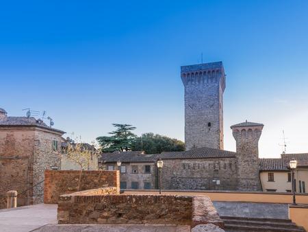 vestige: Cathedral of the collegiate Lucignano Arezzo, Tuscany