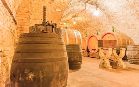 montepulciano: the cellar of wine Nobile di Montepulciano, Tuscany, Siena