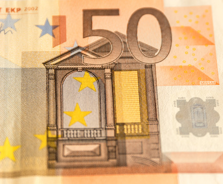 50 euro: Paper money from 50 euro on white background