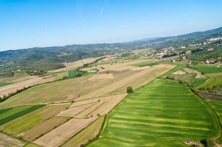 expanse: The green expanse of the Valdichiana in Tuscany - Italy