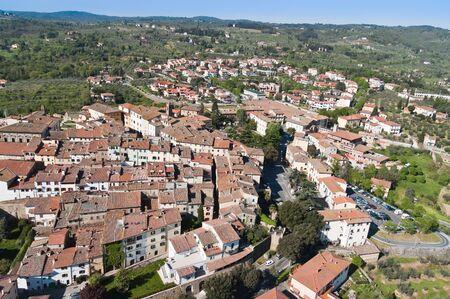 monte: The town of Monte San Savino Tuscany-Italy