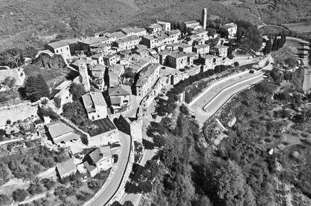 val: the town of Civitella in Val di Chiana Tuscany-Italy Stock Photo
