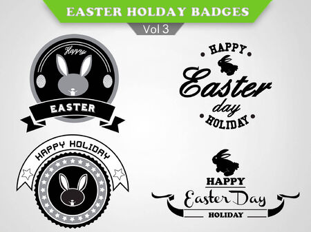 holiday:  Easter Badges vector collection - holiday insignias, labels