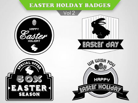 holiday:  Easter Badges collection - holiday insignias, labels