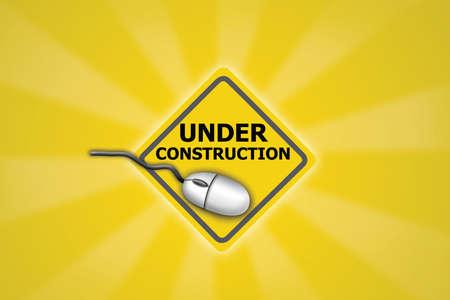 建設のウェブサイトの下で 写真素材