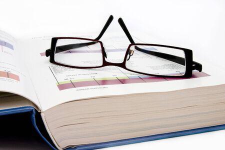 distinguishable: Reading specs Stock Photo