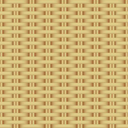 Abstract rattan wicker seamless pattern. Illustration