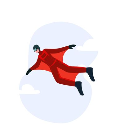 Wingsuit man. The concept of a special wing suit