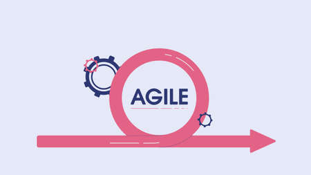 Management agile team concept. Line process high quality business plan for clever intuitive strategy of company employees professional engineering and analytics innovations in vector advertising.